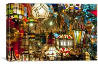 Morocco Lamps, Canvas Print