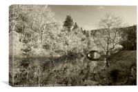 Elan Valley Sepia, Canvas Print