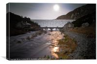 Elan Valley Moonlight, Canvas Print
