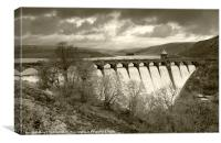 Clouds over Craig Goch Dam, Canvas Print