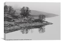 Elan Valley Reflections, Canvas Print