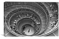 Vatican Spiral Staircase, Canvas Print