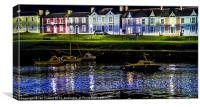Aberaeron Night Lights, Canvas Print