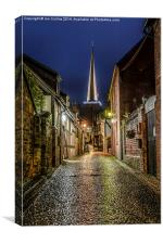 Church Lane Ledbury, Canvas Print