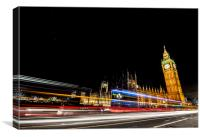 Houses of Parliament Nightscape, Canvas Print