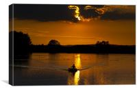 Canvus Rowing out of the sun, Canvas Print
