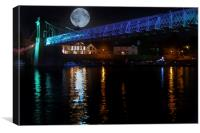 Blue Moon over the Trent, Canvas Print
