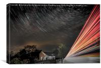 Star and lorry trails, Canvas Print