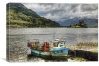 Loading the Creels, Canvas Print