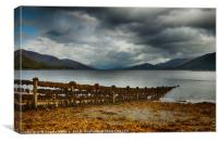 Storm clouds over Loch Linnhe, Canvas Print