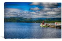Coniston water ferry                    , Canvas Print