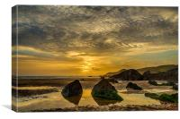 Coombesgate  Beach, Woolacombe., Canvas Print