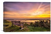 Sunrise on the River Taw Estuary, Canvas Print