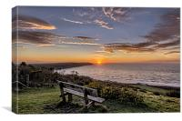 Woolacombe Bay sunset, Canvas Print