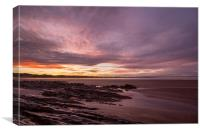 Sunrise at Saunton Sands, Canvas Print