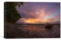 River Taw sunrise., Canvas Print