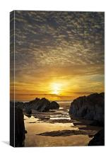 Combesgate Beach, Woolacombe, North Devon, Canvas Print