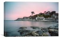 Sunrise at Lee Bay North Devon, Canvas Print