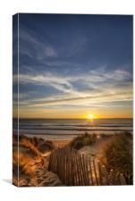 Croyde Bay sunset North Devon, Canvas Print