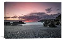 Sandy Cove, North Devon, Canvas Print