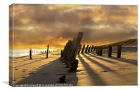 Sunset at Spurn Point, Canvas Print
