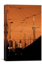 Streetcar Skyline, Canvas Print