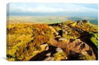 Golden Hour on The Roaches, Canvas Print