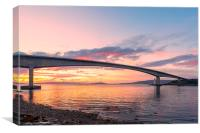 Skye Bridge Sunset, Canvas Print