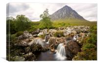 Buachaille Etive Mor and Coupall Falls, Canvas Print