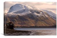 Ben Nevis and the Old Boat, Canvas Print