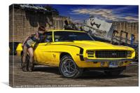 Yellow Muscle, Canvas Print