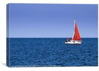 Yachting, Canvas Print