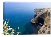 Blue Grotto, Canvas Print