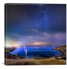 Perseids over Mgiebah, Canvas Print