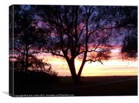 Sunset in Lomma, Canvas Print