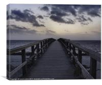 The Long Bridge, Canvas Print