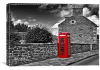 Red Telephone Box, Canvas Print