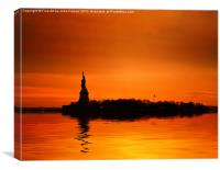 Statue of Liberty Sunset, Canvas Print