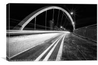 Clyde Arc Glasgow black and white, Canvas Print