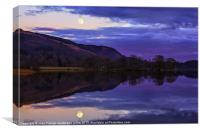 Moonrising over Loch Ard, Canvas Print
