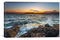 Sunset over Little Cumbrae, Canvas Print