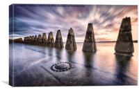 Sunrise at Cramond, Canvas Print