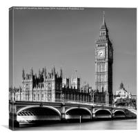Westminster and Big Ben, Canvas Print