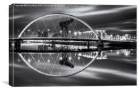 The Clyde Arc Monochrome, Canvas Print