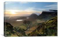 View across the Trotternish Ridge Isle of Skye, Canvas Print