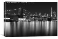 Brooklyn bridge and Lower Manhattan , Canvas Print