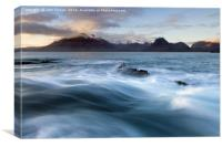 Elgol and the Black Cuillin, Canvas Print