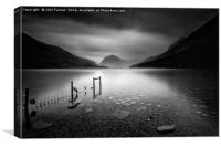 Buttermere black and white, Canvas Print