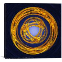 Celtic Abstract on Blue, Canvas Print