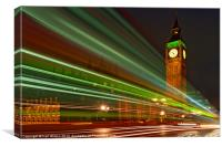 Looking Green Big Ben, Canvas Print